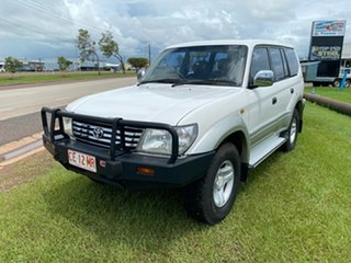 2000 Toyota Landcruiser Prado VZJ95R Grande White 4 Speed Automatic Wagon.