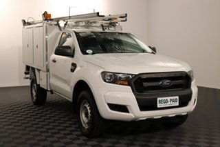 2017 Ford Ranger PX MkII XL Cool White 6 speed Automatic Cab Chassis.