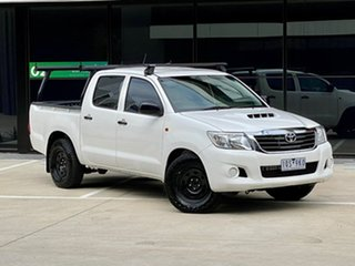 2012 Toyota Hilux KUN16R MY12 SR Double Cab 4x2 White 5 Speed Manual Utility