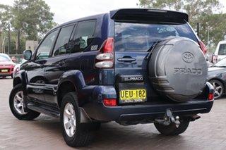 2004 Toyota Landcruiser Prado KZJ120R GXL Blue 4 Speed Automatic SUV.