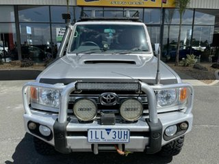 2009 Toyota Landcruiser VDJ76R GXL (4x4) Silver 5 Speed Manual Wagon.