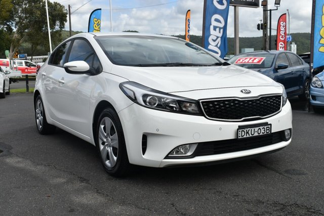 Used Kia Cerato YD MY17 S Gosford, 2016 Kia Cerato YD MY17 S White 6 Speed Sports Automatic Sedan