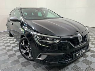 2017 Renault Megane KFB GT-Line EDC Black 7 Speed Sports Automatic Dual Clutch Wagon.