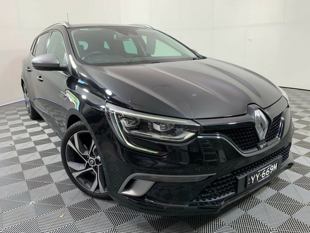 Used Renault Megane KFB GT-Line EDC Wayville, 2017 Renault Megane KFB GT-Line EDC Black 7 Speed Sports Automatic Dual Clutch Wagon
