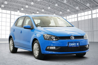 2017 Volkswagen Polo 6R MY17 66TSI DSG Trendline Cornflower Blue 7 Speed.
