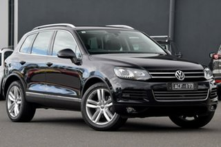 2014 Volkswagen Touareg 7P MY14 V6 TDI Tiptronic 4MOTION Black 8 Speed Sports Automatic Wagon.