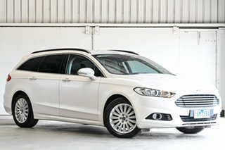 2015 Ford Mondeo MD Trend White 6 Speed Sports Automatic Dual Clutch Wagon.
