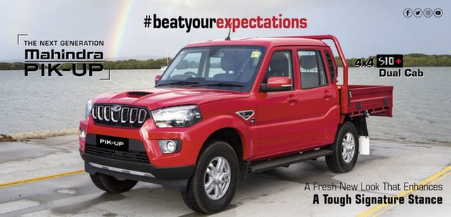New Mahindra Pik-Up S6 (4x4) Bundaberg, 2021 Mahindra Pik-Up S6+ (4x4) Red Rage 6 Speed Manual Dual Cab