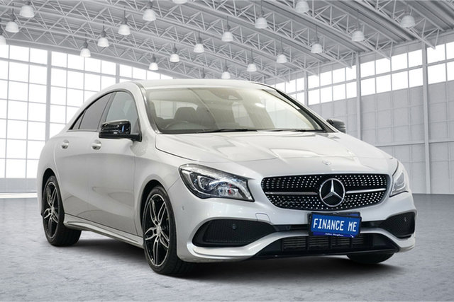 Used Mercedes-Benz CLA-Class C117 808MY CLA200 DCT Victoria Park, 2017 Mercedes-Benz CLA-Class C117 808MY CLA200 DCT Silver 7 Speed Sports Automatic Dual Clutch Coupe