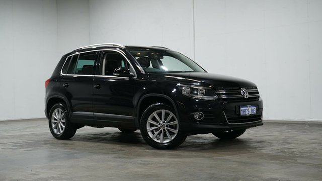 Used Volkswagen Tiguan 5N MY15 132TSI DSG 4MOTION Welshpool, 2015 Volkswagen Tiguan 5N MY15 132TSI DSG 4MOTION Black 7 Speed Sports Automatic Dual Clutch Wagon