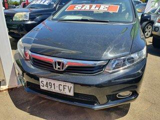 2013 Honda Civic 9th Gen Ser II MY13 VTi-L Black 5 Speed Sports Automatic Sedan