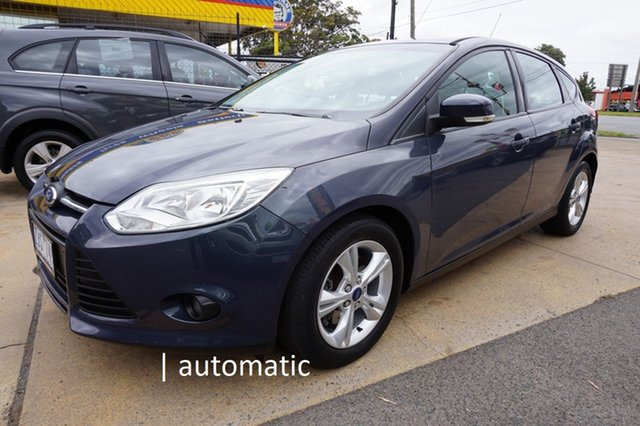 Used Ford Focus LW Trend PwrShift Dandenong, 2012 Ford Focus LW Trend PwrShift Midnight Sky 6 Speed Sports Automatic Dual Clutch Hatchback