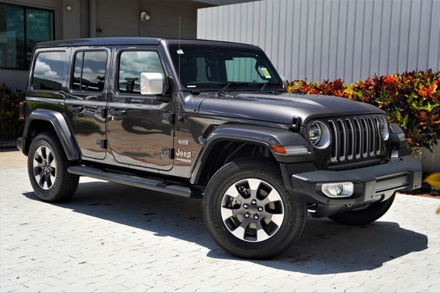 New Jeep Wrangler JL MY21 Unlimited Overland Cairns, 2020 Jeep Wrangler JL MY21 Unlimited Overland Granite Crystal Metallic Clearcoat 8 Speed Automatic