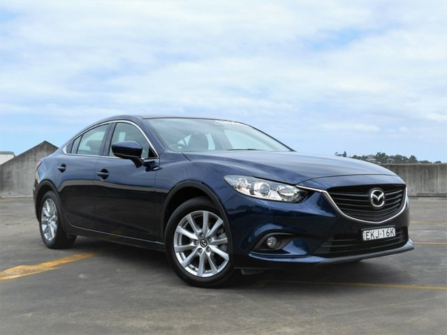 Used Mazda 6 GL1031 Sport SKYACTIV-Drive Brookvale, 2017 Mazda 6 GL1031 Sport SKYACTIV-Drive Blue 6 Speed Sports Automatic Sedan