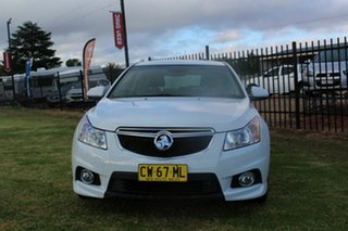 2013 Holden Cruze JH Series II MY14 SRi-V White 6 Speed Sports Automatic Hatchback.