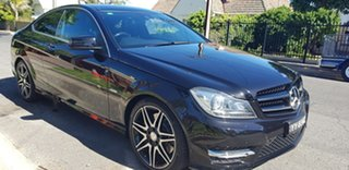 2013 Mercedes-Benz C250 W204 MY14 Sport Obsidian Black 7 Speed Automatic G-Tronic Coupe.