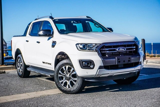 Used Ford Ranger PX MkIII 2019.00MY Wildtrak Christies Beach, 2019 Ford Ranger PX MkIII 2019.00MY Wildtrak White 10 Speed Sports Automatic Double Cab Pick Up