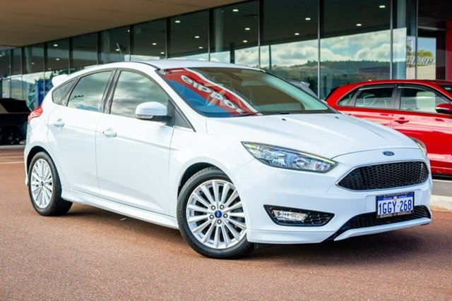 Used Ford Focus LZ Sport Gosnells, 2017 Ford Focus LZ Sport White 6 Speed Automatic Hatchback