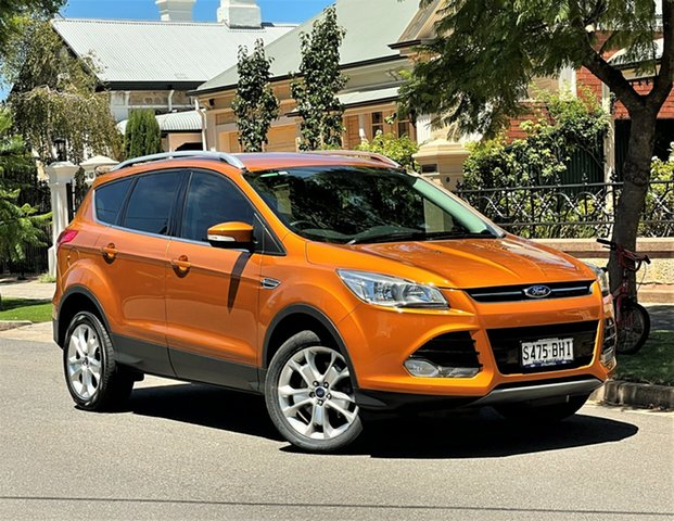 Used Ford Kuga TF MY16 Trend AWD Hyde Park, 2015 Ford Kuga TF MY16 Trend AWD Orange 6 Speed Sports Automatic Wagon