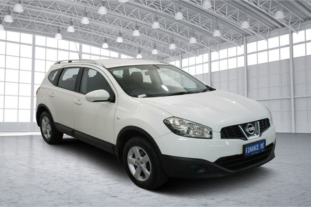Used Nissan Dualis J107 Series 3 MY12 +2 Hatch X-tronic 2WD ST Victoria Park, 2013 Nissan Dualis J107 Series 3 MY12 +2 Hatch X-tronic 2WD ST White 6 Speed Constant Variable