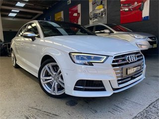 2018 Audi S3 8V White Sports Automatic Dual Clutch Sedan.
