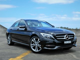 2014 Mercedes-Benz C-Class W205 C200 7G-Tronic + Black 7 Speed Sports Automatic Sedan.