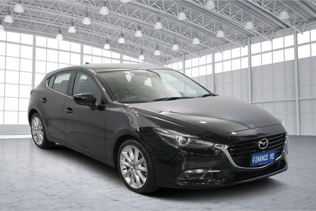Used Mazda 3 BN5438 SP25 SKYACTIV-Drive GT Victoria Park, 2018 Mazda 3 BN5438 SP25 SKYACTIV-Drive GT Black 6 Speed Sports Automatic Hatchback