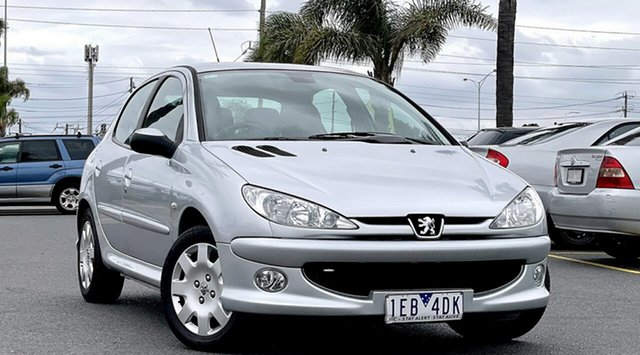 Used Peugeot 206 T1 MY06 XT Cheltenham, 2006 Peugeot 206 T1 MY06 XT Silver 5 Speed Manual Hatchback