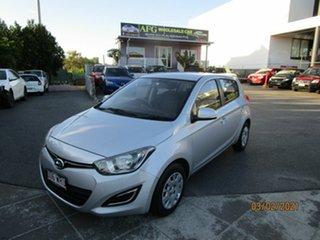 2014 Hyundai i20 PB MY14 Active Silver 4 Speed Automatic Hatchback.