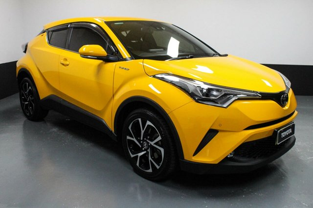 Used Toyota C-HR NGX10R Koba S-CVT 2WD Hamilton, 2017 Toyota C-HR NGX10R Koba S-CVT 2WD Yellow 7 Speed Constant Variable Wagon