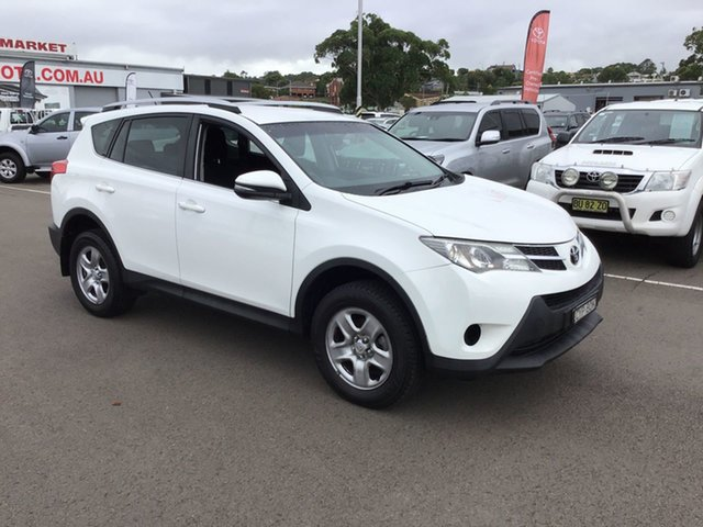 Pre-Owned Toyota RAV4 ASA44R GX AWD Cardiff, 2013 Toyota RAV4 ASA44R GX AWD White 6 Speed Sports Automatic Wagon