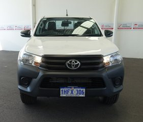 2017 Toyota Hilux GUN125R Workmate (4x4) Glacier White 6 Speed Automatic Dual Cab Utility.