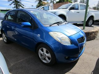 2008 Toyota Yaris NCP90R Rush Blue 4 Speed Automatic Hatchback.