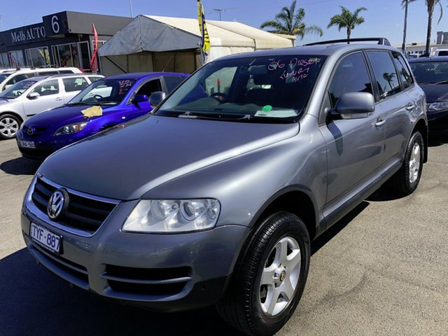 Used Volkswagen Touareg 7L MY05 R5 TDI 4XMOTION Cheltenham, 2006 Volkswagen Touareg 7L MY05 R5 TDI 4XMOTION Silver 6 Speed Sports Automatic Wagon