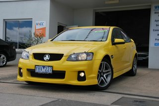 2010 Holden Commodore VE II SV6 Yellow 6 Speed Automatic Sedan.