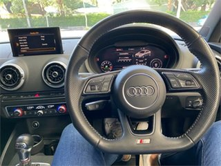 2018 Audi S3 8V White Sports Automatic Dual Clutch Sedan