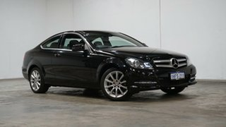 2013 Mercedes-Benz C-Class C204 MY13 C180 7G-Tronic + Black 7 Speed Sports Automatic Coupe.