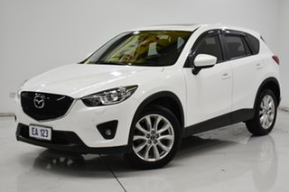 2013 Mazda CX-5 KE1021 MY13 Akera SKYACTIV-Drive AWD White 6 Speed Sports Automatic Wagon.