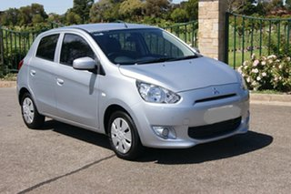 2013 Mitsubishi Mirage LA ES Silver 5 Speed Manual Hatchback.