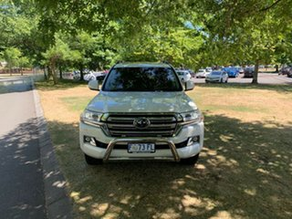 2016 Toyota Landcruiser VDJ200R Sahara White 6 Speed Sports Automatic Wagon.