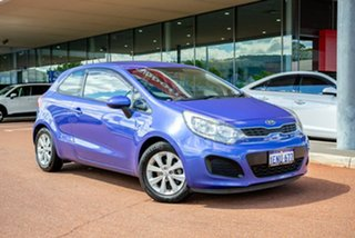 2014 Kia Rio UB MY14 S Blue 4 Speed Sports Automatic Hatchback.