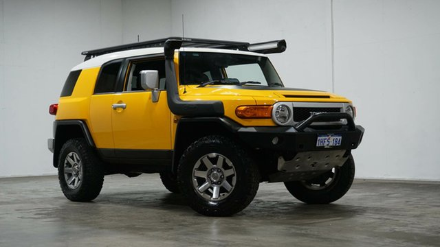 Used Toyota FJ Cruiser GSJ15R MY14 Welshpool, 2015 Toyota FJ Cruiser GSJ15R MY14 Yellow 5 Speed Automatic Wagon