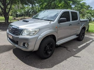 2015 Toyota Hilux KUN26R MY14 SR Double Cab Silver 5 Speed Manual Utility