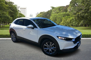 2020 Mazda CX-30 DM4WLA G25 SKYACTIV-Drive i-ACTIV AWD Touring White Pearl 6 Speed Sports Automatic.