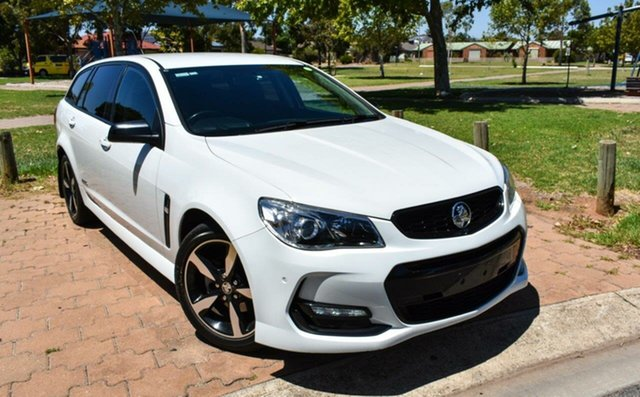 Used Holden Commodore VF II MY16 SV6 Sportwagon Black Ingle Farm, 2016 Holden Commodore VF II MY16 SV6 Sportwagon Black White 6 Speed Sports Automatic Wagon
