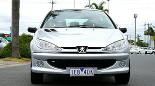 2006 Peugeot 206 T1 MY06 XT Silver 5 Speed Manual Hatchback.