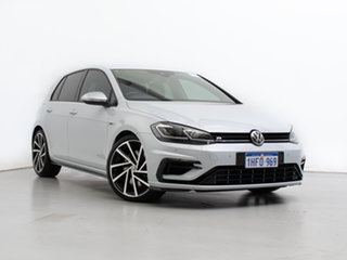 2019 Volkswagen Golf AU MY20 R White Silver 7 Speed Auto Direct Shift Hatchback.