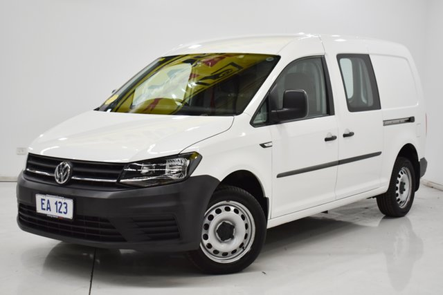 Used Volkswagen Caddy 2KN MY17 TSI220 Maxi DSG Brooklyn, 2016 Volkswagen Caddy 2KN MY17 TSI220 Maxi DSG White 7 Speed Sports Automatic Dual Clutch Van