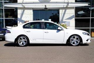 2009 Ford Falcon FG XR6 Turbo White 6 Speed Sports Automatic Sedan.