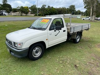 2001 Toyota Hilux RZN147R MY02 Workmate 4x2 White 5 Speed Manual Cab Chassis.